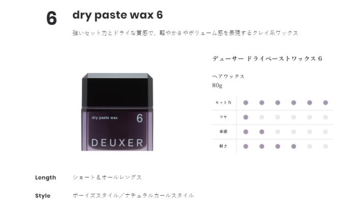 DEUXER(デューサー) ドライペーストワックス 6が最強だった